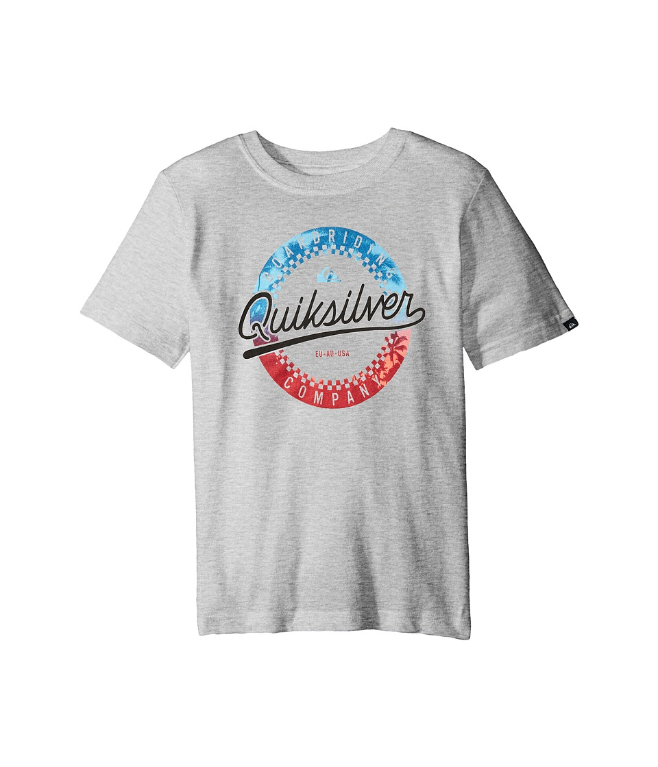 Quiksilver Kids - Iced Donut Screen Print (Big Kids) (Grey Heather) Boy's T Shirt