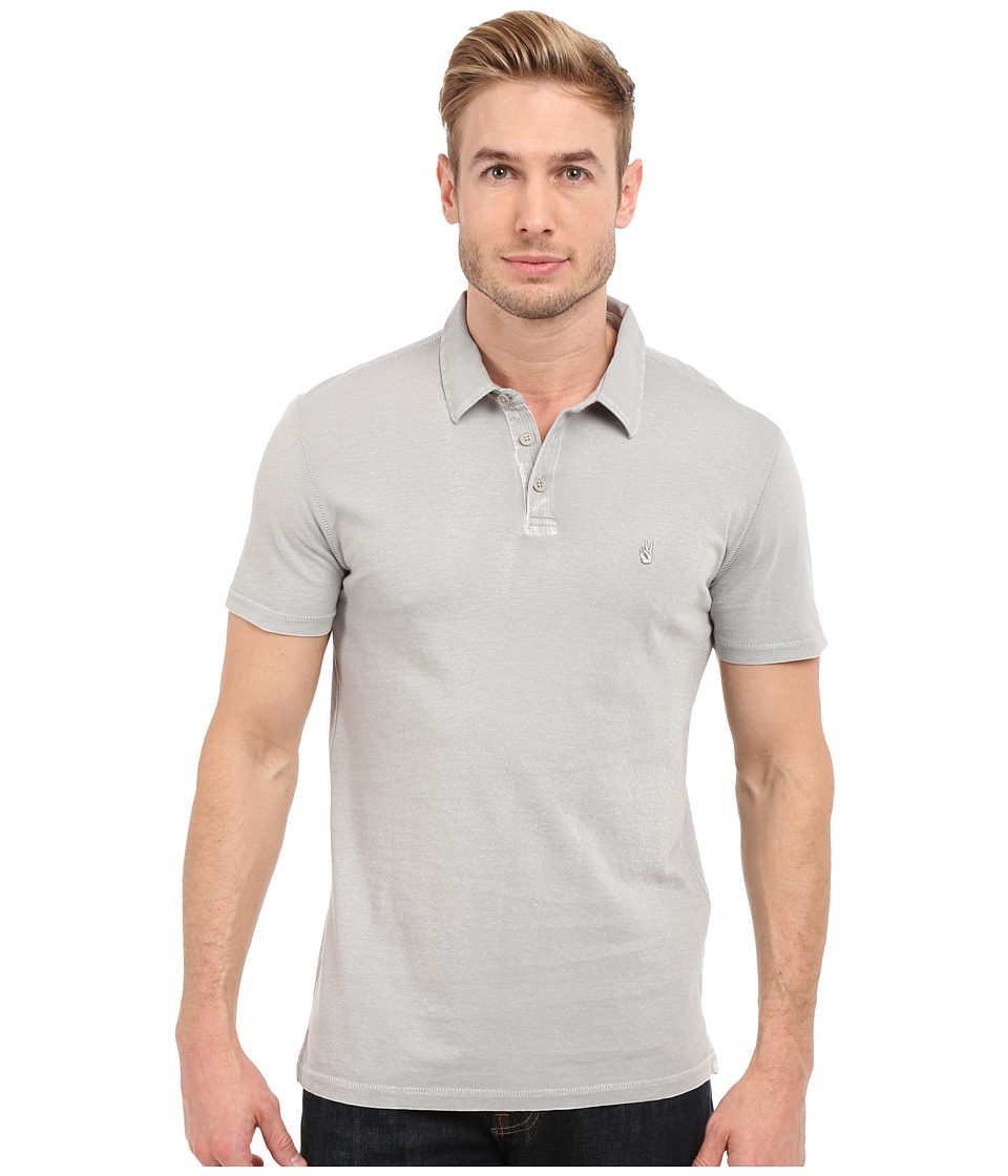 John Varvatos Star U.S.A. - Soft Collar Peace Polo K1381S1B (Smoke) Men's Short Sleeve Pullover