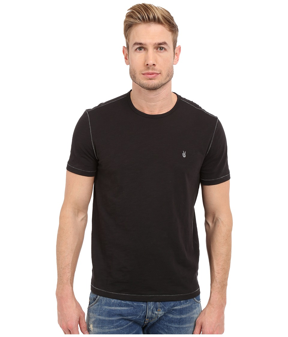 John Varvatos Star U.S.A. - Short Sleeve Peace Crew K2081S1B (Black) Men's Short Sleeve Pullover