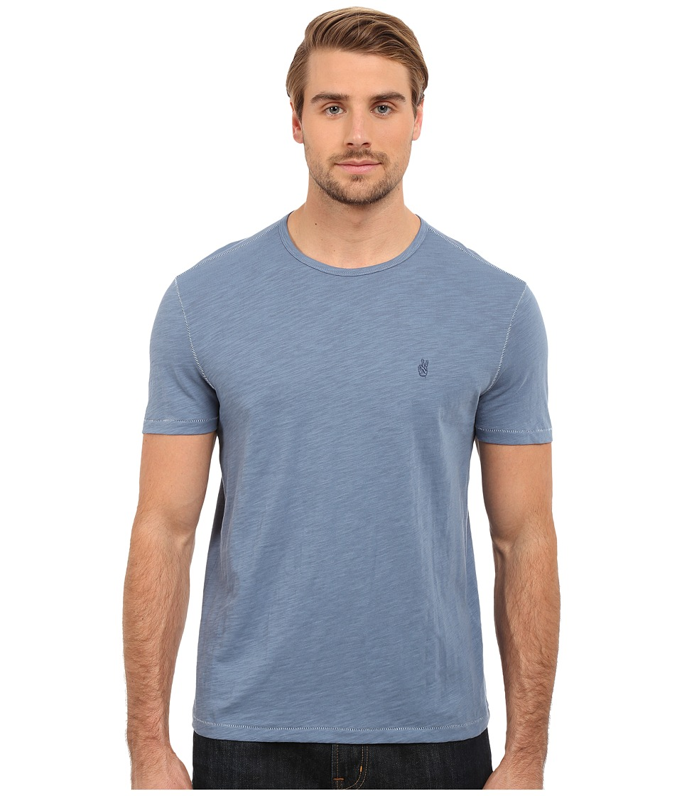 John Varvatos Star U.S.A. - Short Sleeve Peace Crew K2081S1B (Stream Blue) Men's Short Sleeve Pullover