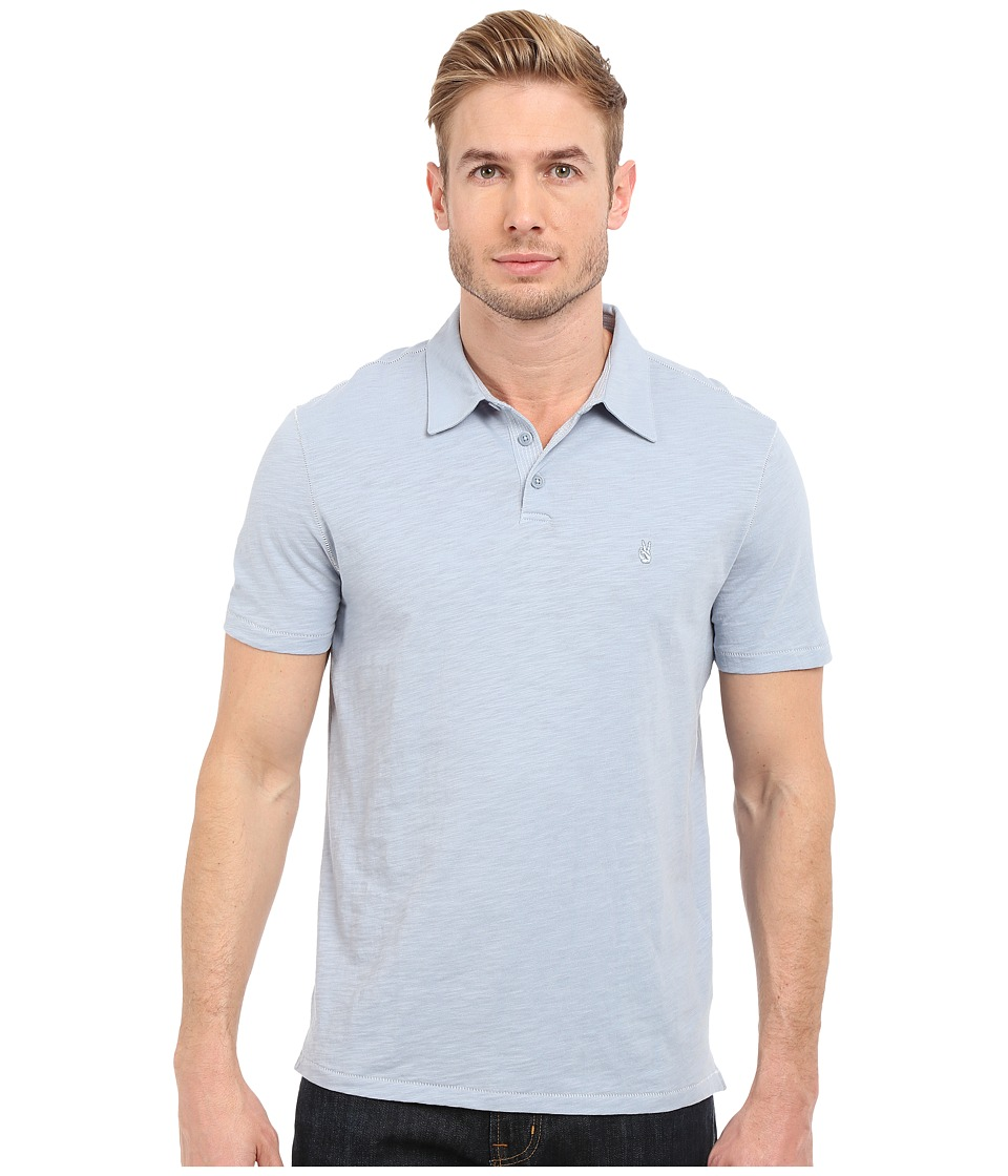 John Varvatos Star U.S.A. - Soft Collar Peace Polo K1381S1B (Sky) Men's Short Sleeve Pullover