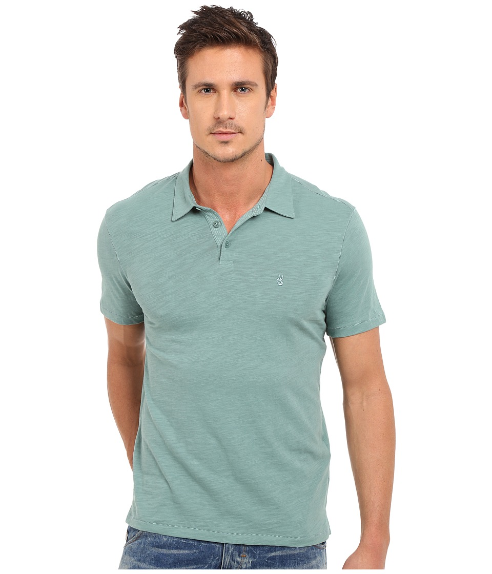 John Varvatos Star U.S.A. - Soft Collar Peace Polo K1381S1B (Blue Topaz) Men's Short Sleeve Pullover