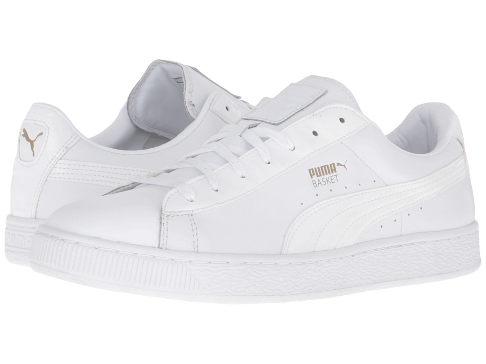 PUMA - Basket Classic Animal Croc (PUMA White) Men's Basketball Shoes