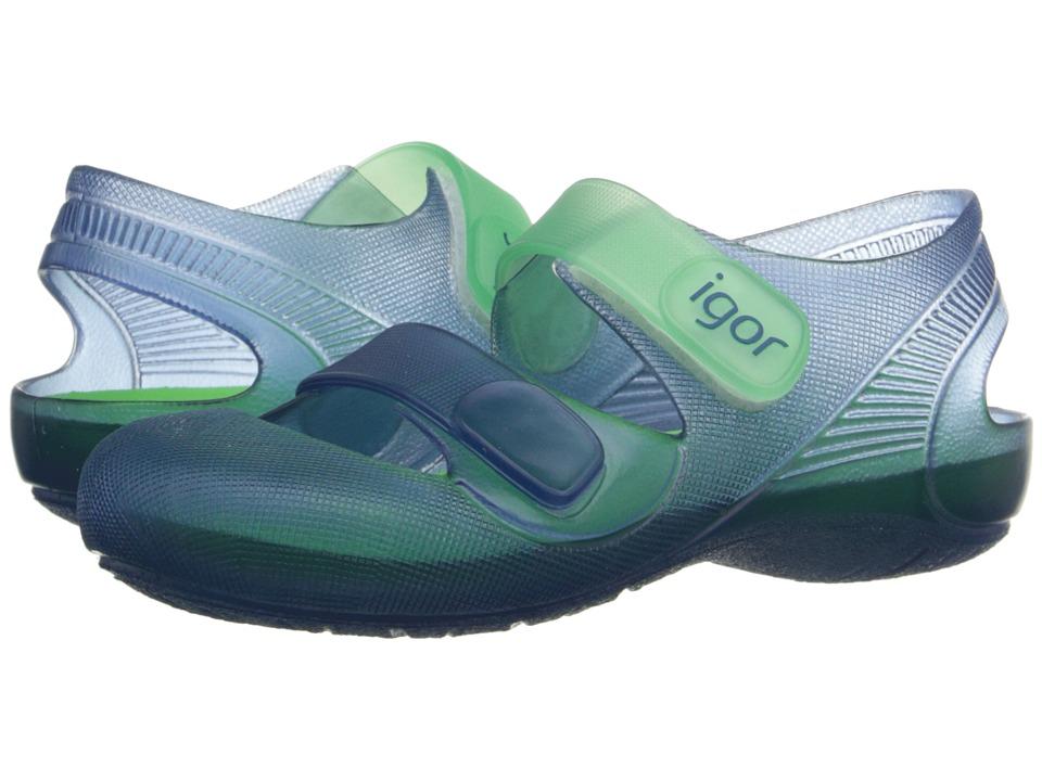 Igor - Bondi (Infant/Toddler/Little Kid) (Navy/Green) Kid's Shoes