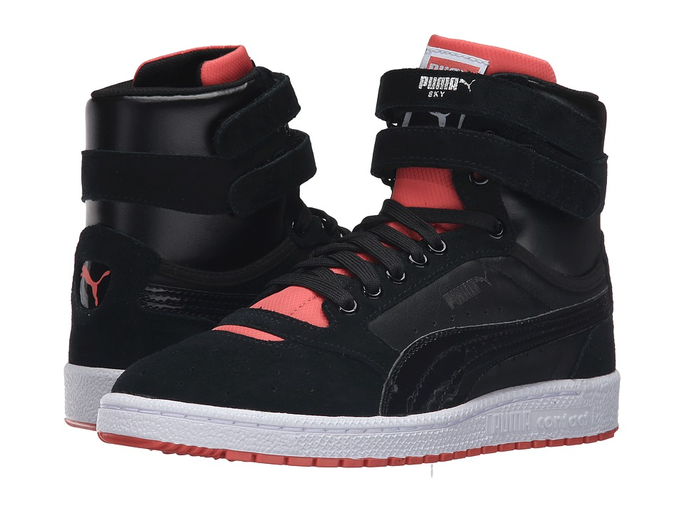 PUMA - Sky II High Streetwear (Puma Black/Porcelain Rose) Women's Shoes
