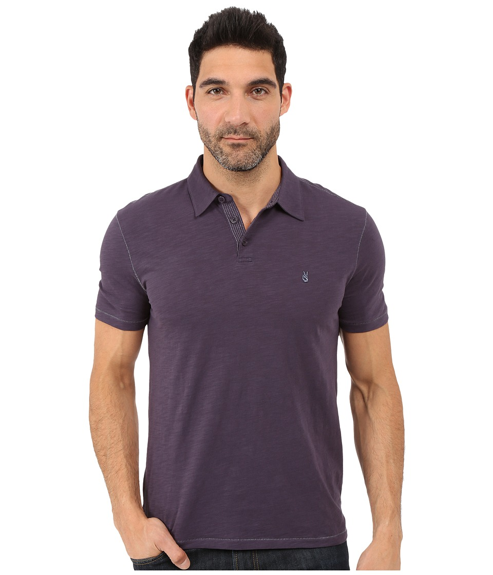 John Varvatos Star U.S.A. - Soft Collar Peace Polo K1381S1B (Purple) Men's Short Sleeve Pullover