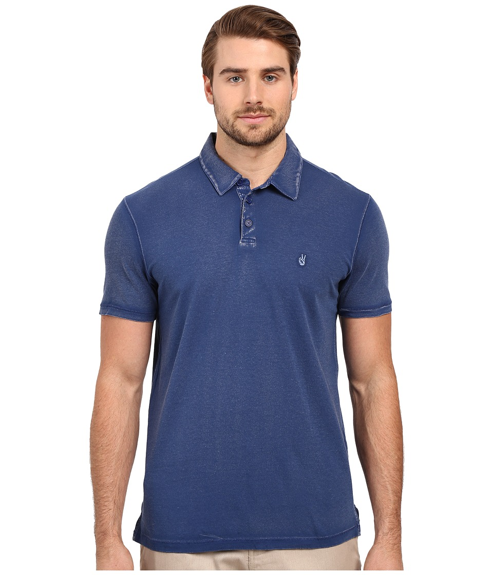 John Varvatos Star U.S.A. - Soft Collar Peace Polo K1381S1B (Blue) Men's Short Sleeve Pullover