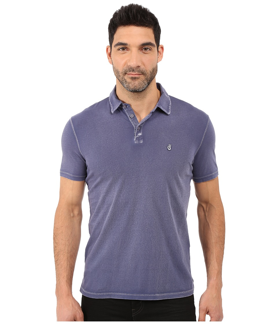 John Varvatos Star U.S.A. - Soft Collar Peace Polo K1381S1B (Iris) Men's Short Sleeve Pullover
