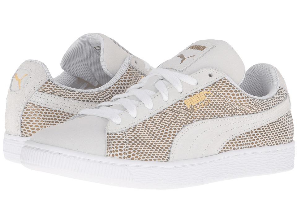 PUMA - Suede Gold (PUMA White) Women's Basketball Shoes