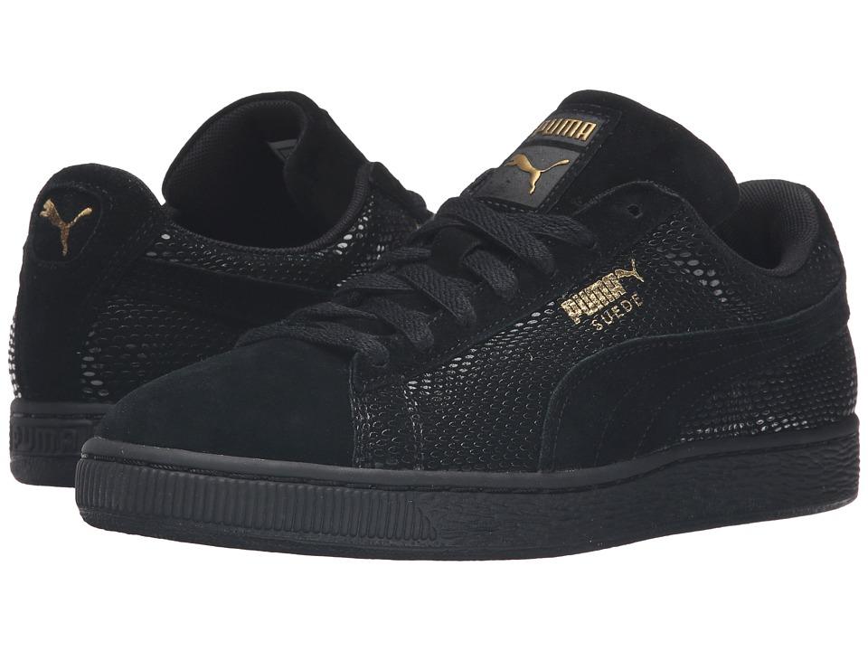 PUMA - Suede Gold (PUMA Black) Women's Basketball Shoes