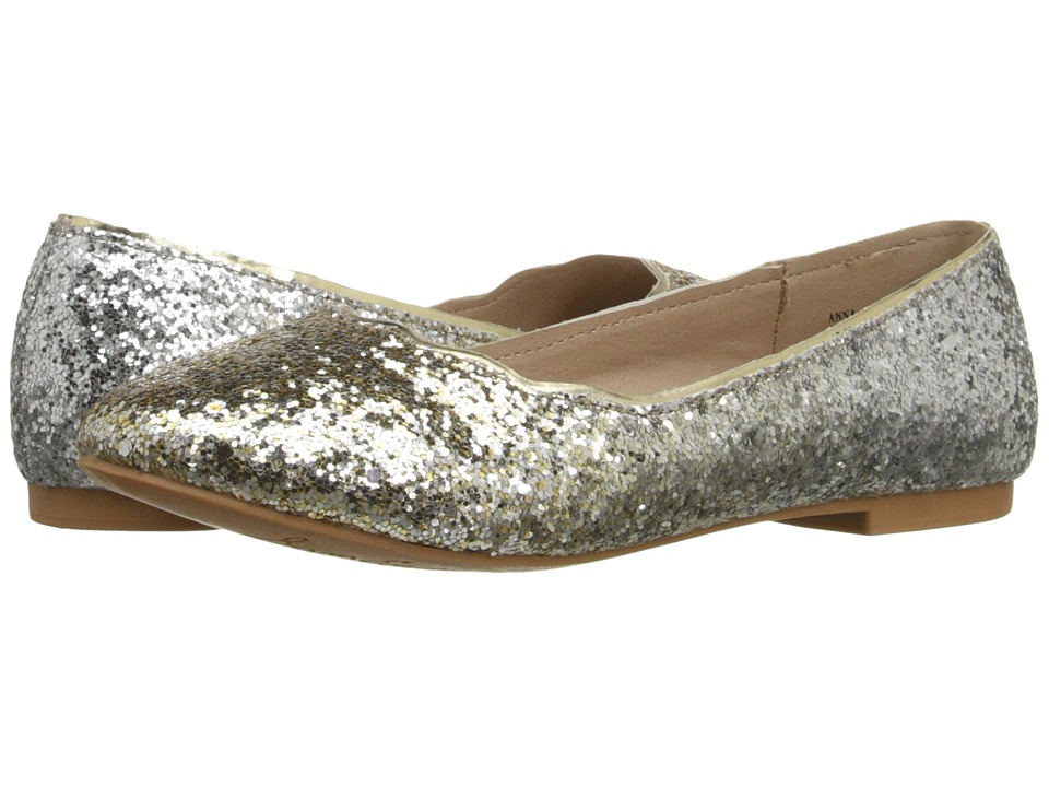 Sam Edelman Kids Anna Ballet (Little Kid/Big Kid) (Gold/Silver Gradient Glitter) Girls Shoes