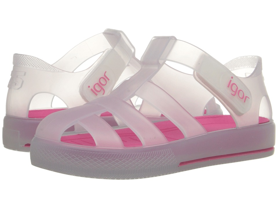 Igor - Star (Infant/Toddler/Little Kid) (White/Fuchsia) Girl's Shoes
