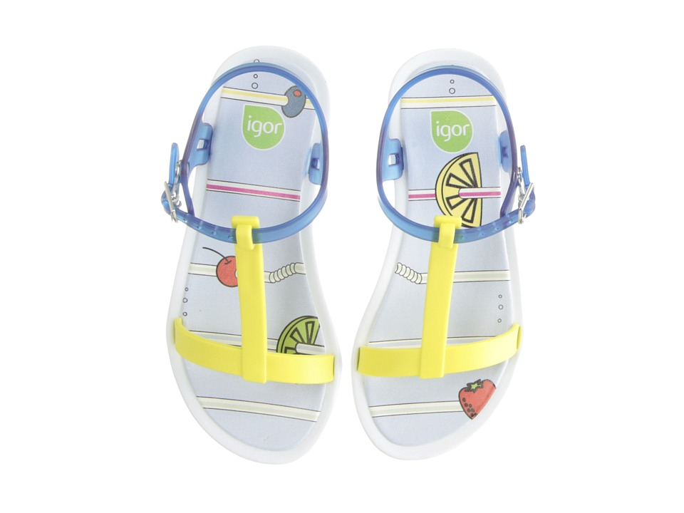 Igor - Tricia Fresh (Toddler/Little Kid/Big Kid) (Yellow/Transparent Blue) Girl's Shoes