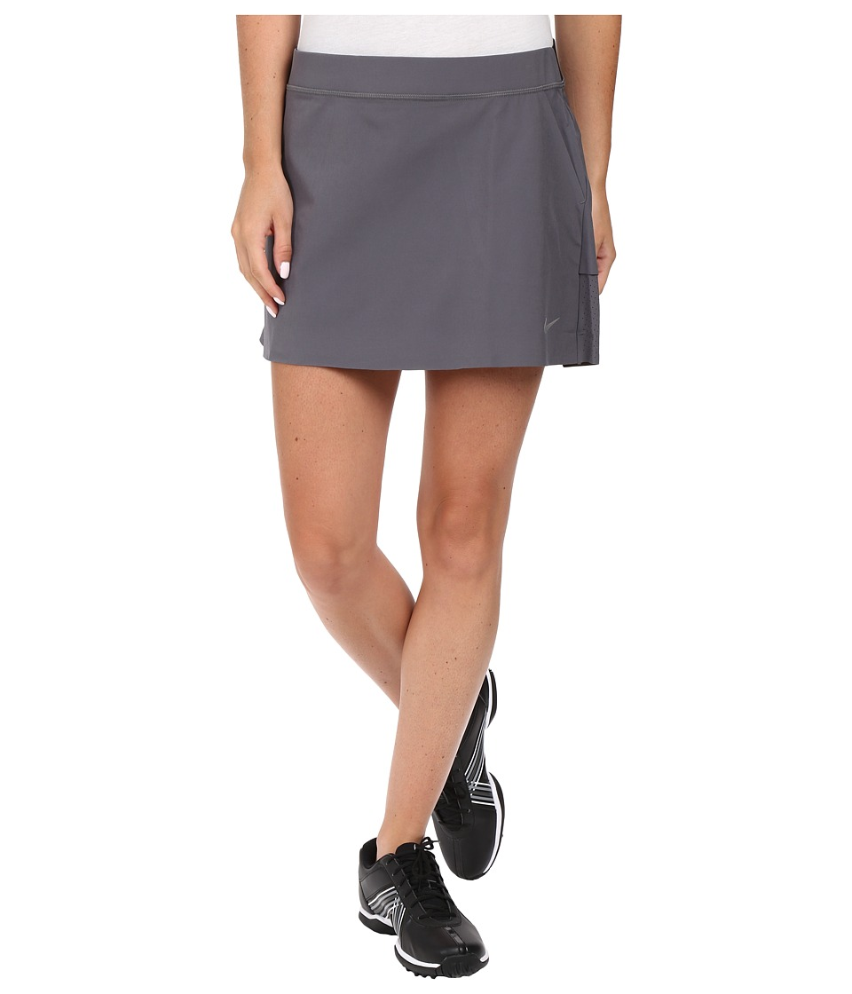 Nike Golf - Innovation Links Woven Skort (Dark Grey/Metallic Silver) Women's Skort