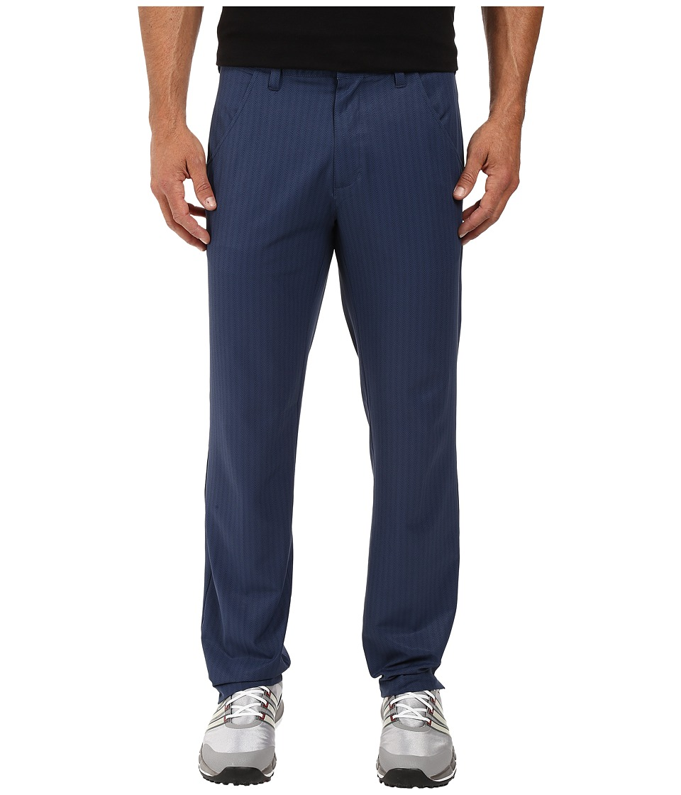 adidas Golf - Ultimate Dot Herringbone Pants (Mineral Blue/Collegiate Navy) Men's Casual Pants