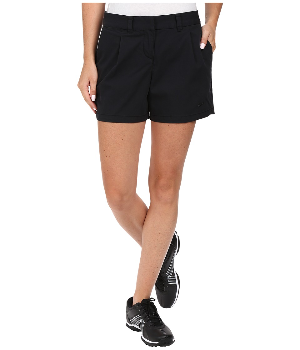 Nike Golf - Washed Drive Shorty Shorts (Black/Black) Women's Shorts