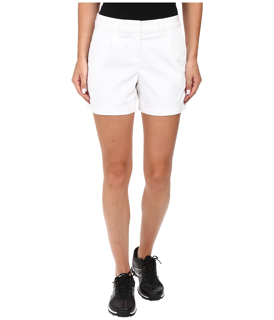 Nike Golf - Washed Drive Shorty Shorts (White/White) Women's Shorts