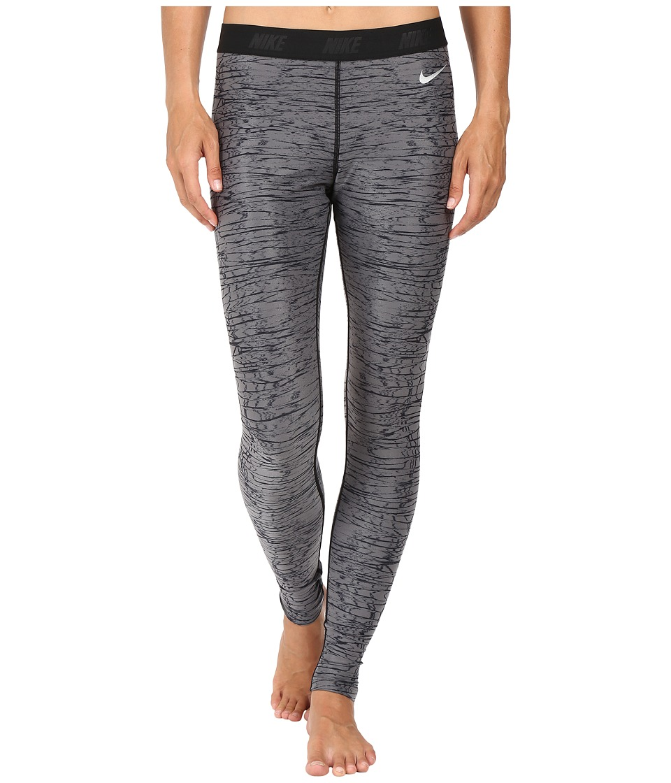 Nike Golf - Print Tights (Dark Grey/Black/Metallic Silver) Women's Casual Pants