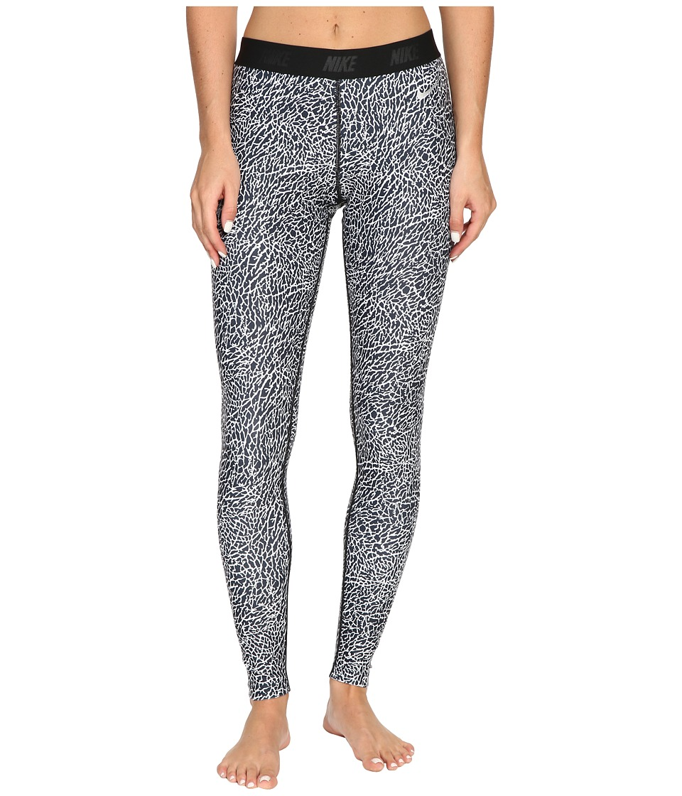 Nike Golf - Print Tights (White/Black/Metallic Silver) Women's Casual Pants