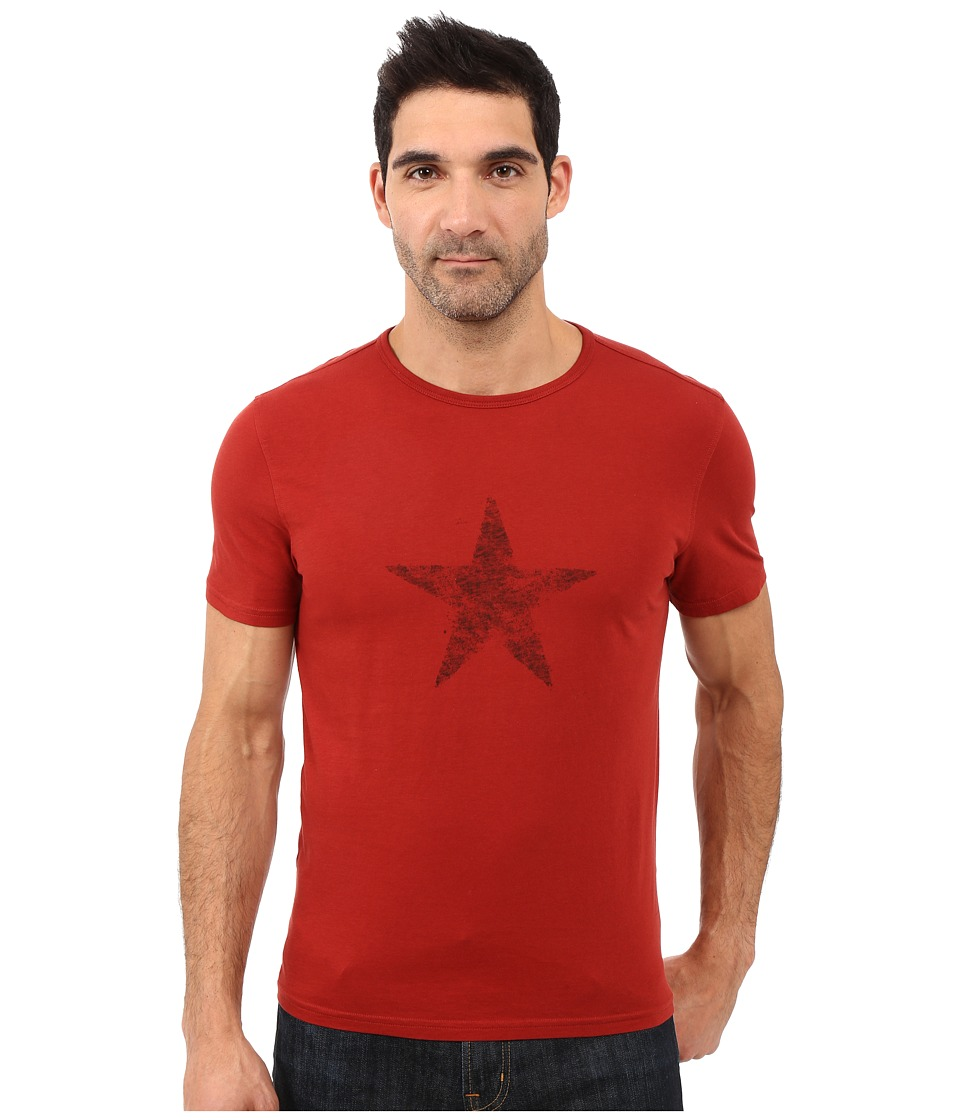 John Varvatos Star U.S.A. - Faded Star Graphic Tee K2607S1B (Red Clay) Men's T Shirt