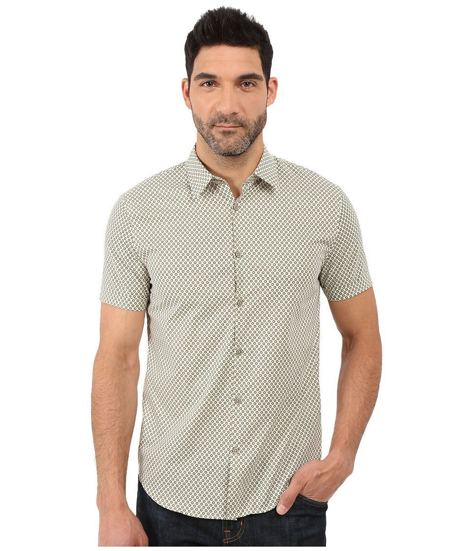 John Varvatos Star U.S.A. - Slim Fit Sport Shirt with Cuffed Short Sleeves W443S1L (Cerulean) Men's Clothing