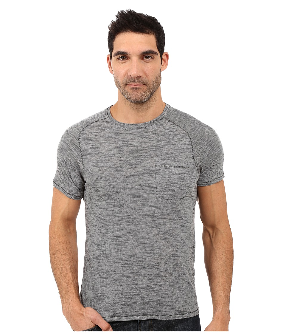 John Varvatos Star U.S.A. - Micro Stripe Knit Crew Neck w/ Chest Pocket K2527S1B (Grey) Men's T Shirt