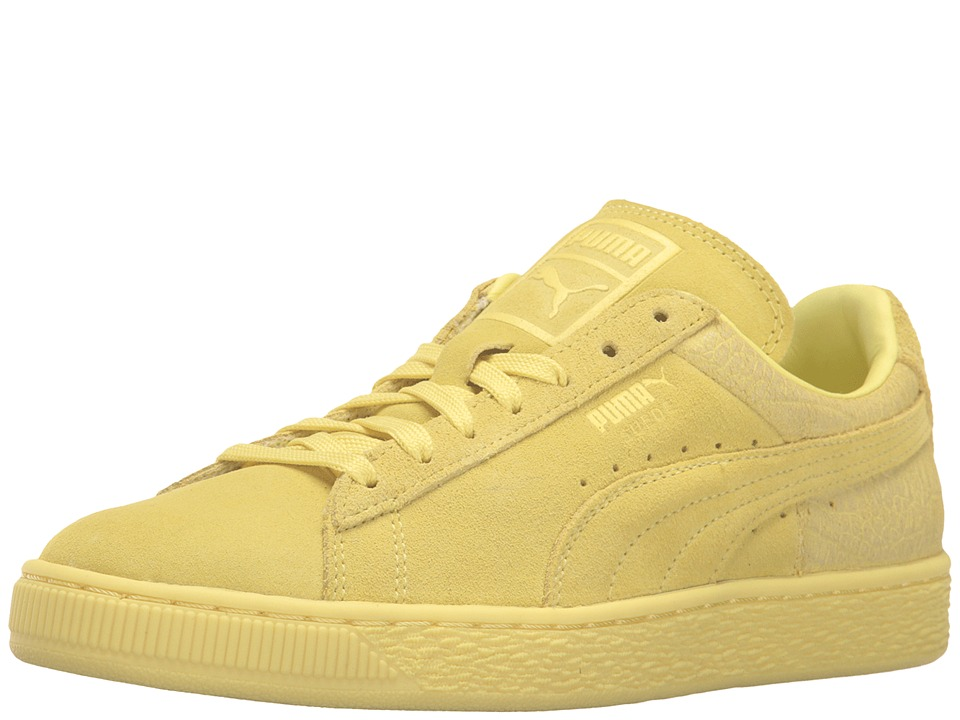 PUMA - Suede Classic Emboss (Limelight) Women's Basketball Shoes