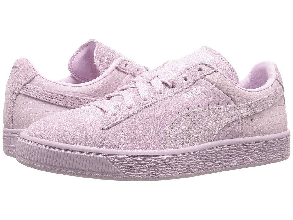 PUMA - Suede Classic Emboss (Lilac Snow) Women's Basketball Shoes