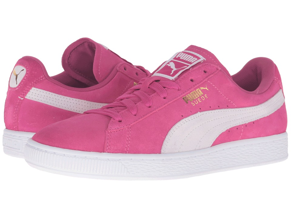 PUMA - Suede Classic (Fuchsia Purple/Puma White) Women's Shoes