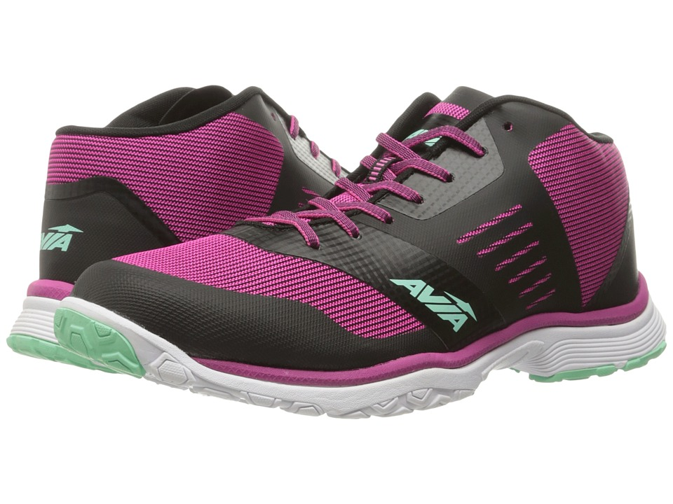 Avia - GFC Reina (Black/Festival Fuchsia/Mint Breeze) Women's Shoes