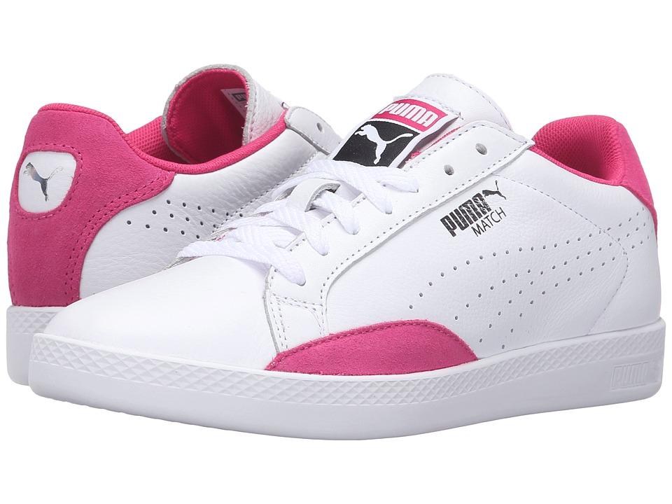 PUMA - Match Lo Basic Sports (Puma White/Fuchsia Purple) Women's Shoes