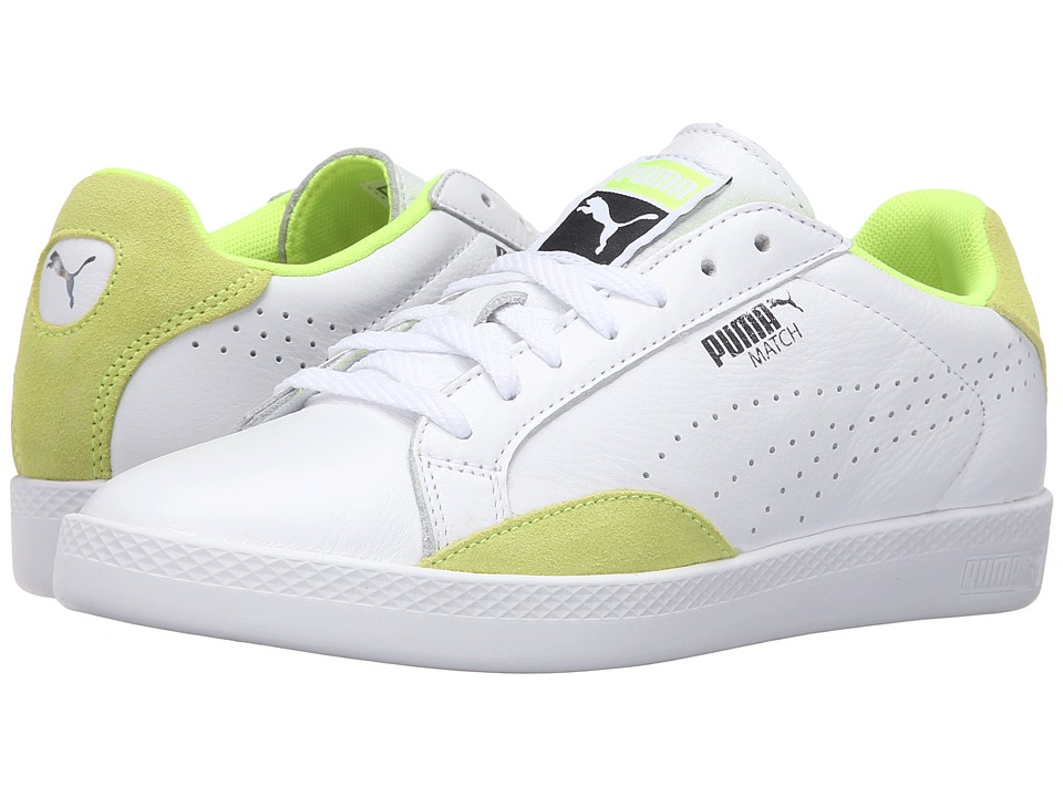PUMA - Match Lo Basic Sports (Puma White/Safety Yellow) Women's Shoes