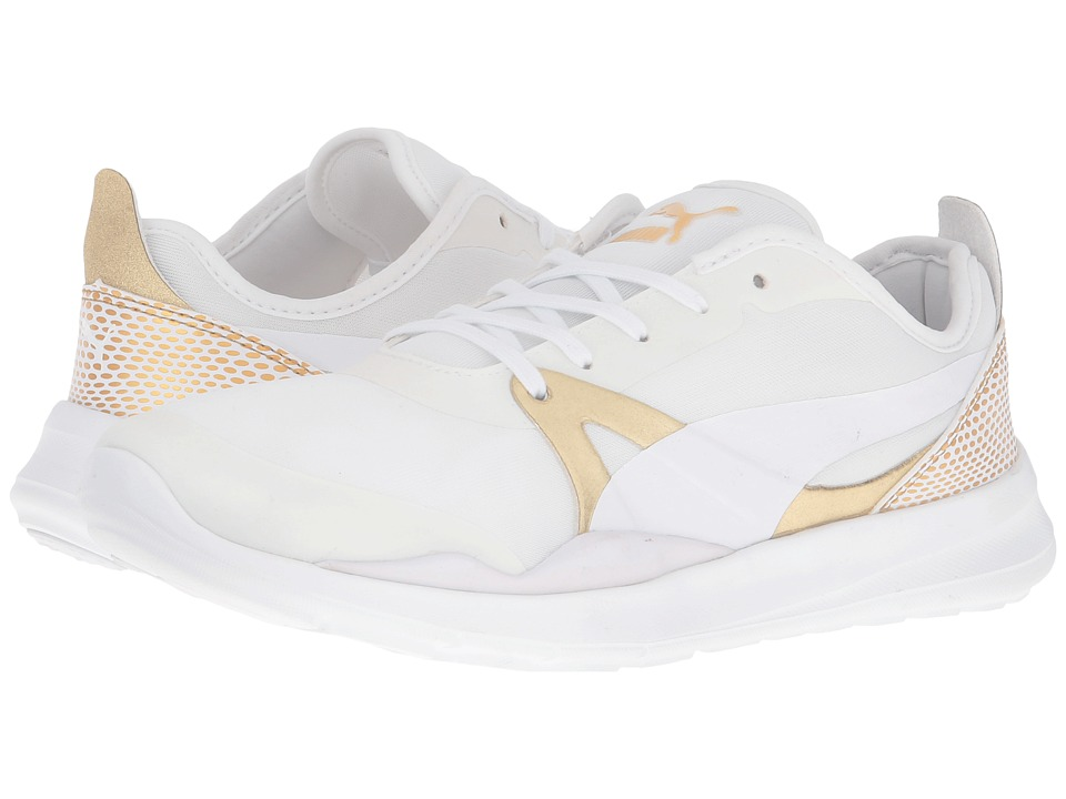 PUMA - Duplex EVO Gold (Puma White) Women's Running Shoes