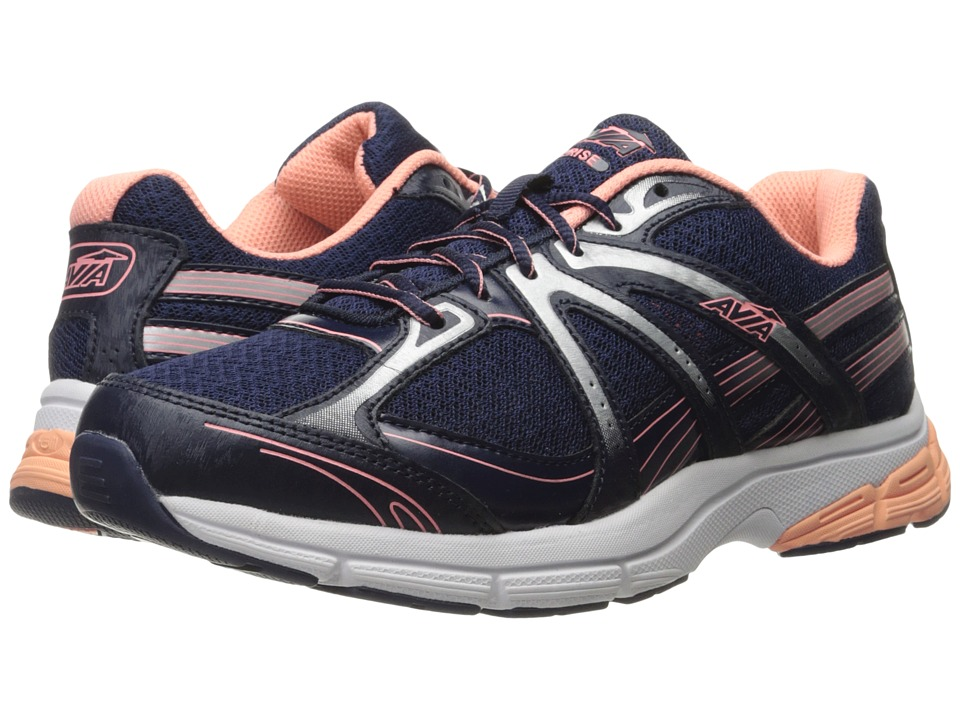 Avia Avi-Rise (Grotto Navy/Soft Coral/Chrome Silver/White) Women