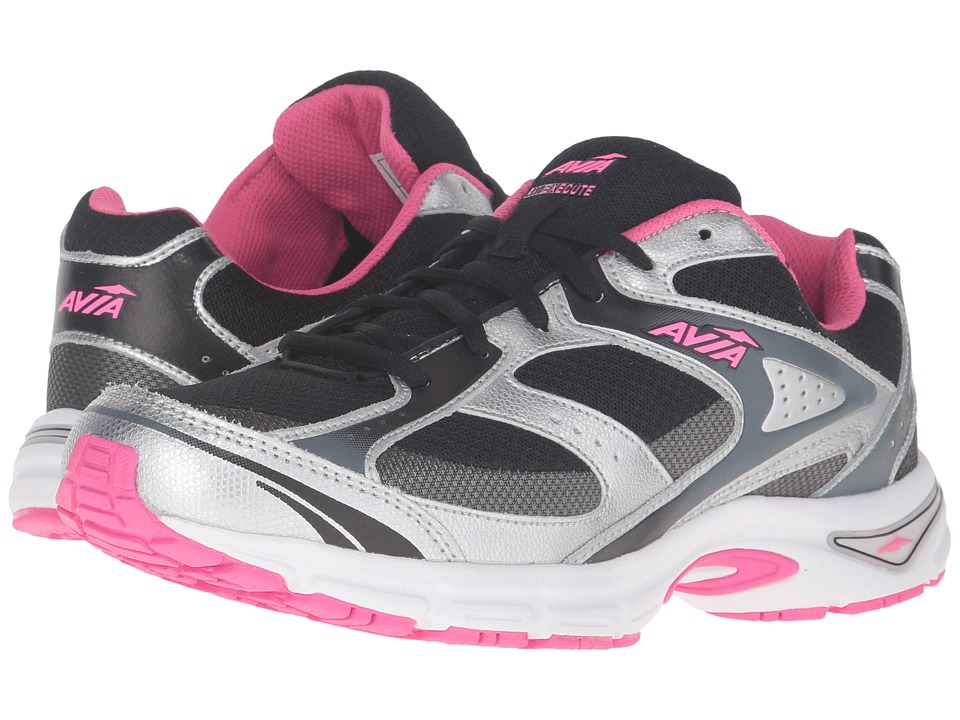 Avia Avi-Execute (Black/Chrome Silver/Pink Energy/Steel Grey) Women