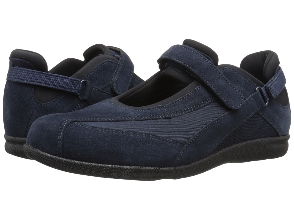 Drew - Joy (Navy Suede/Navy Stretch) Women's Maryjane Shoes