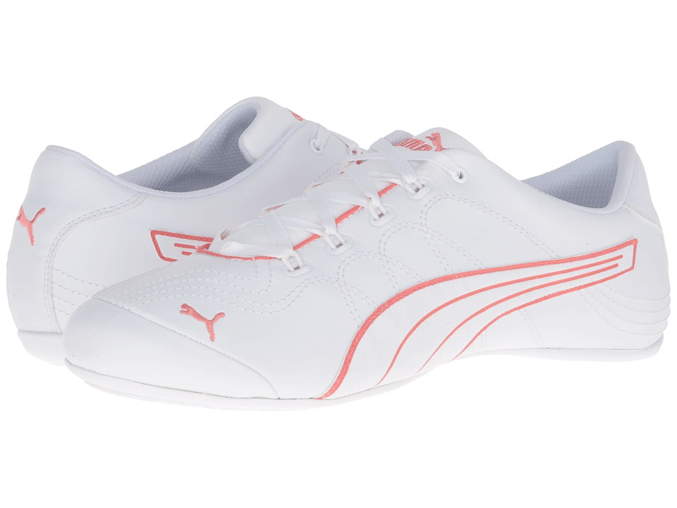 PUMA - Soleil v2 Comfort Fun (Puma White/Porcelain Rose) Women's Shoes