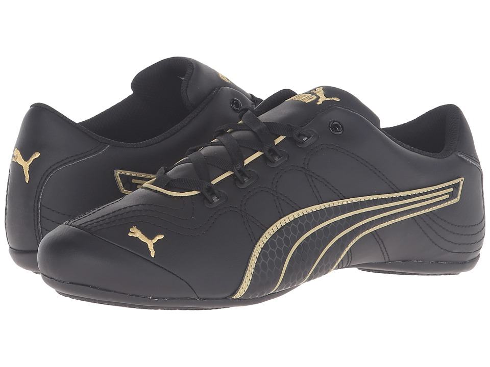 PUMA - Soleil v2 Comfort Fun (Puma Black/Gold) Women's Shoes