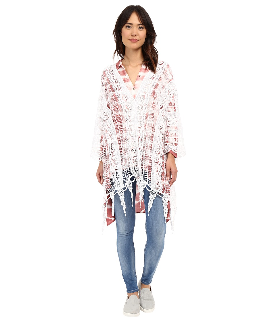 XCVI - Angeleno Poncho (White) Women's Clothing