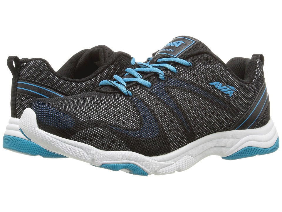 Avia Avi-Celeste (Black/White/Detox Blue) Women