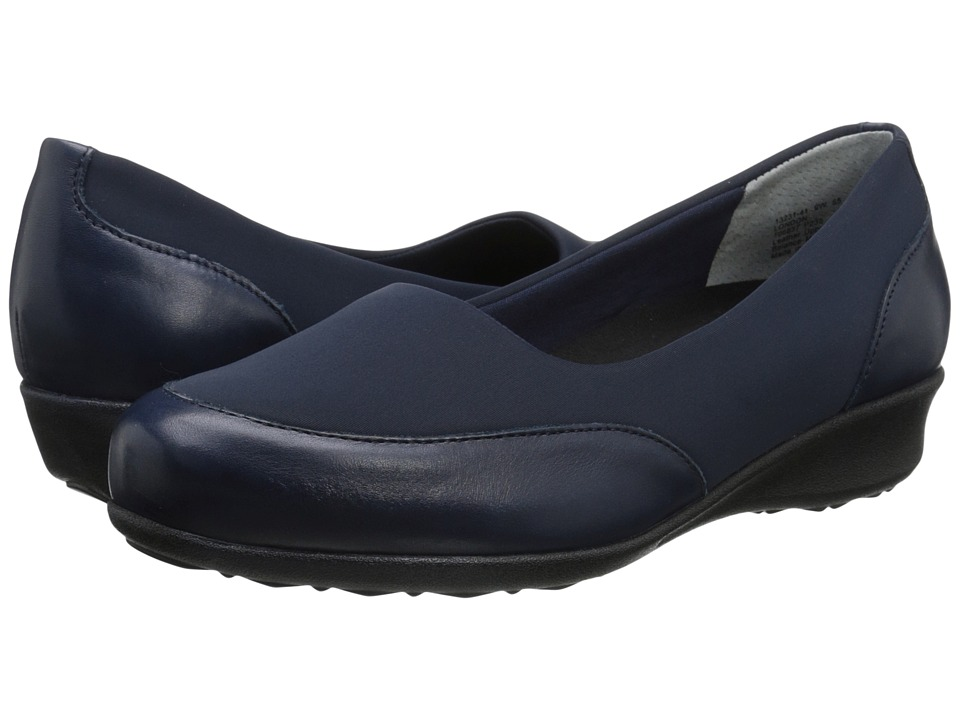 Drew - London (Navy Leather Combo) Women's Shoes
