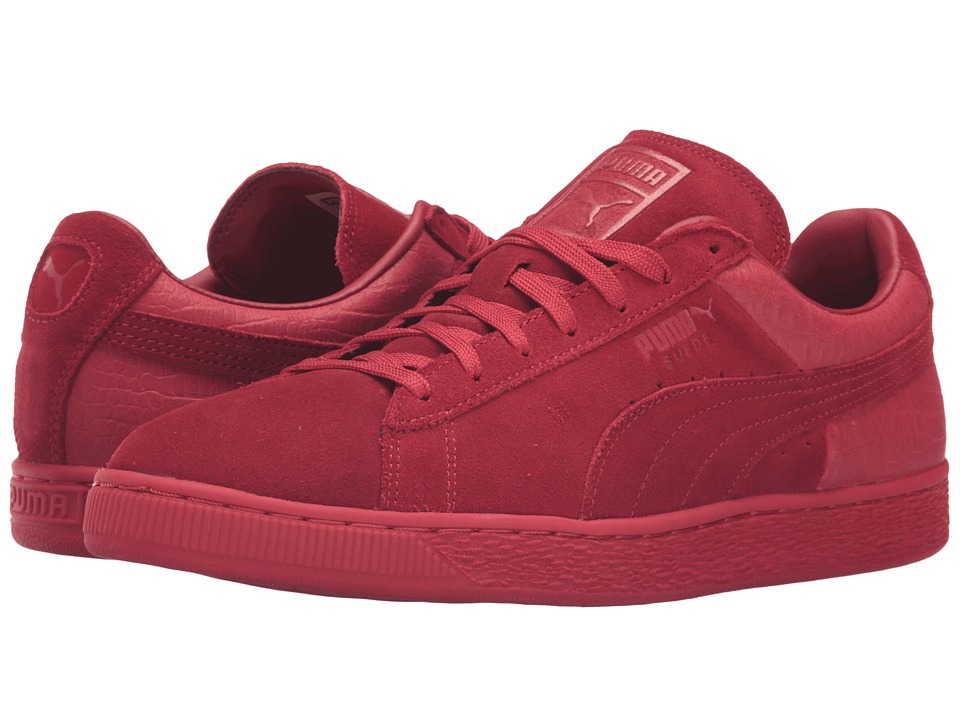 PUMA - Suede Classic Casual Emboss (Barbados Cherry) Men's Basketball Shoes
