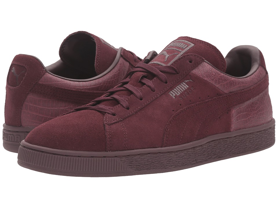 PUMA - Suede Classic Casual Emboss (Winetasting) Men's Basketball Shoes