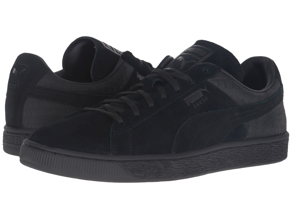 PUMA - Suede Classic Casual Emboss (PUMA Black) Men's Basketball Shoes