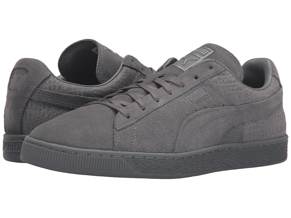 PUMA - Suede Classic Casual Emboss (Steel Gray) Men's Basketball Shoes