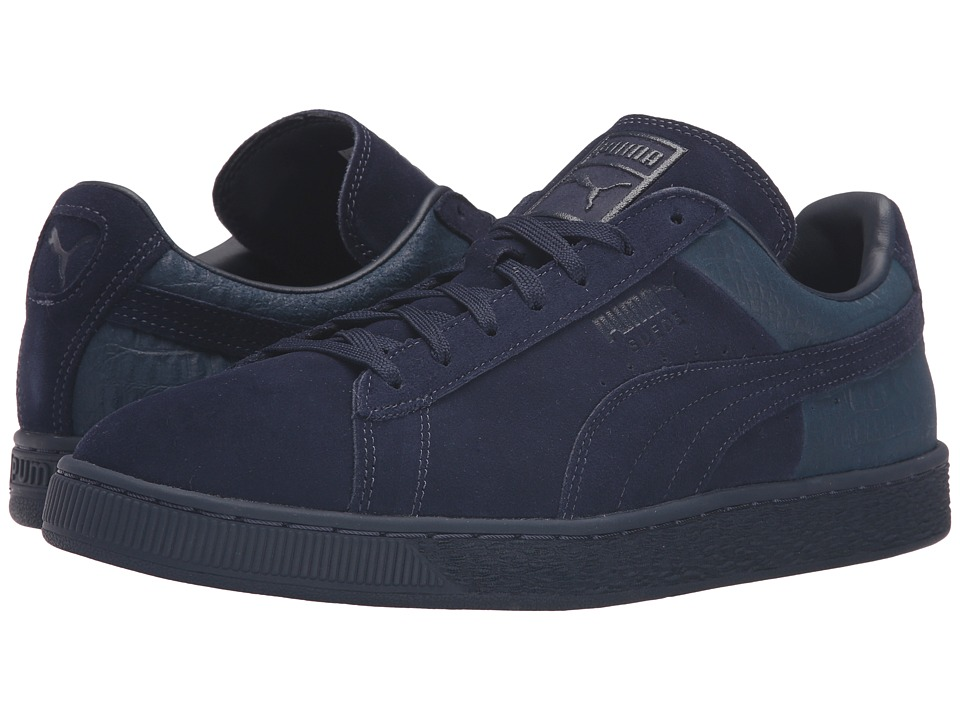 PUMA - Suede Classic Casual Emboss (Peacoat) Men's Basketball Shoes