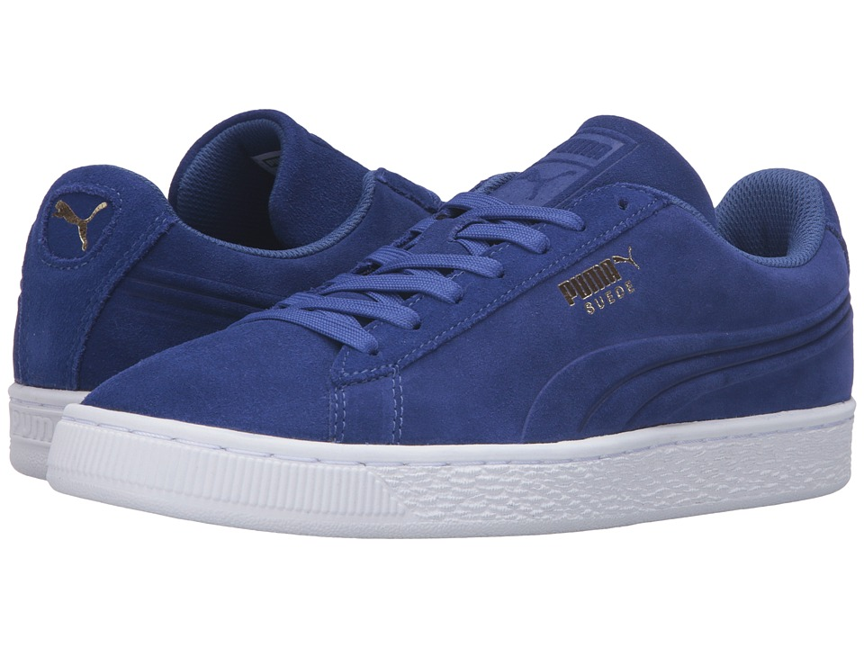 PUMA - Suede Classic Debossed Q3 (Mazarine Blue) Men's Basketball Shoes