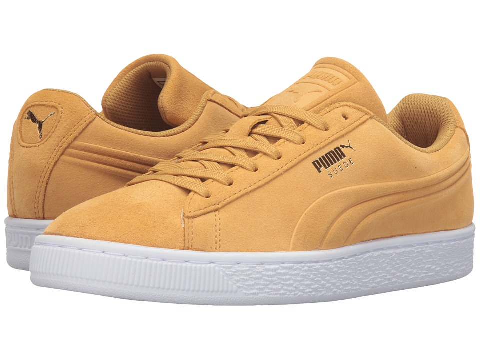 PUMA - Suede Classic Debossed Q3 (Bright Gold) Men's Basketball Shoes