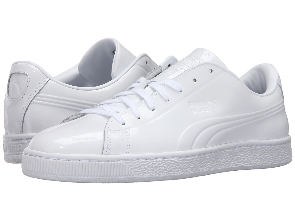 PUMA - Basket Classic Patent Emboss (PUMA White) Men's Basketball Shoes