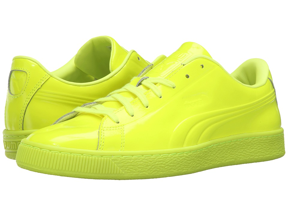 PUMA - Basket Classic Patent Emboss (Safety Yellow) Men's Basketball Shoes